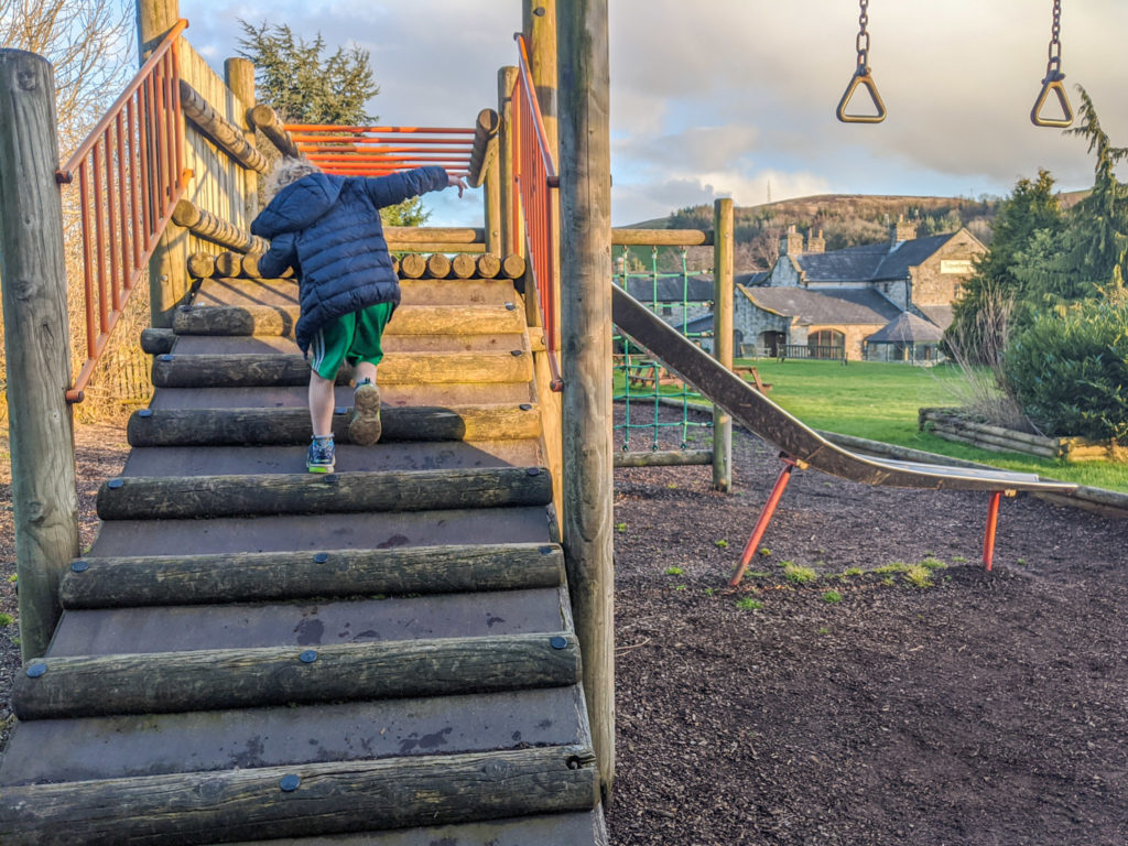 playground at the Travellers Rest, Hope Valley, Peak District