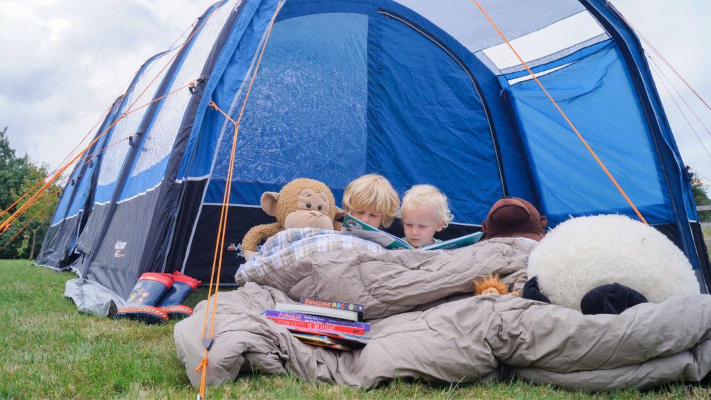 Family camping Peak District