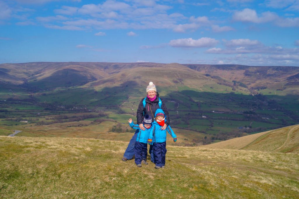 views at the summit of Mam Tor