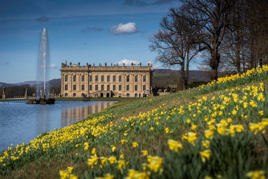 Chatsworth House in spring