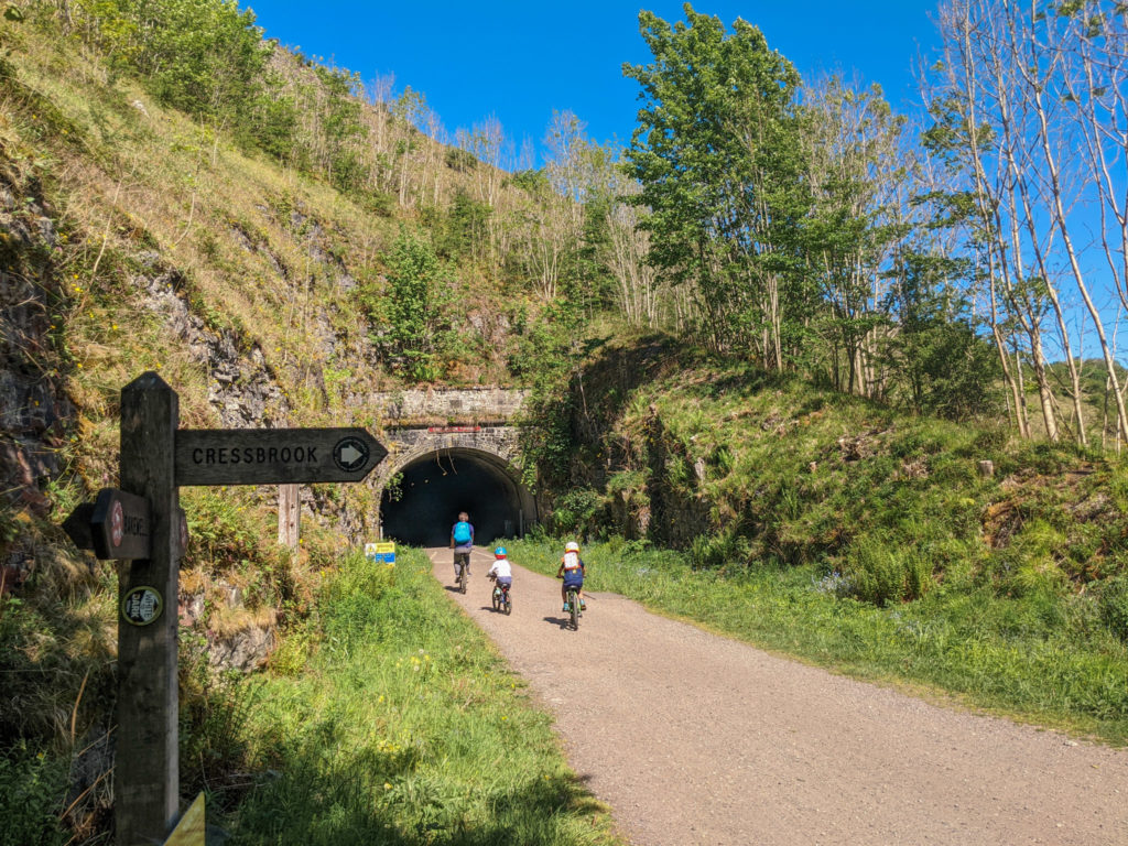 Monsal Trail cycle with kids