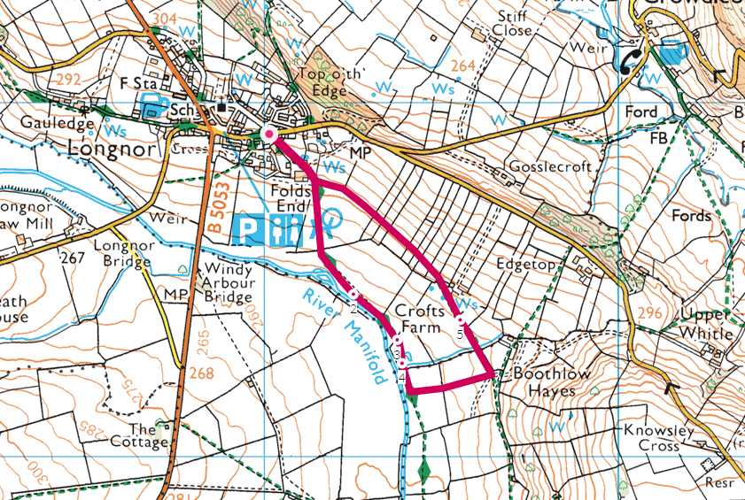 Longnor walk OS Map