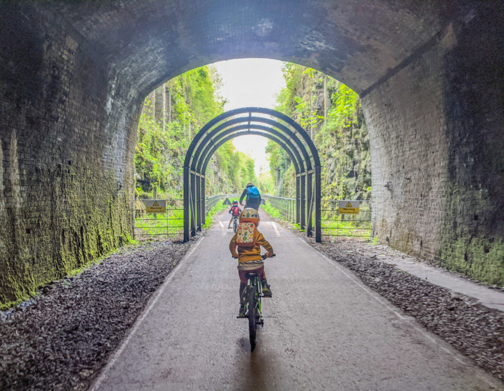 Cycling through the Monsal Head tunnel