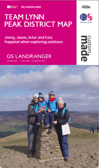 Our personalised OS map front cover