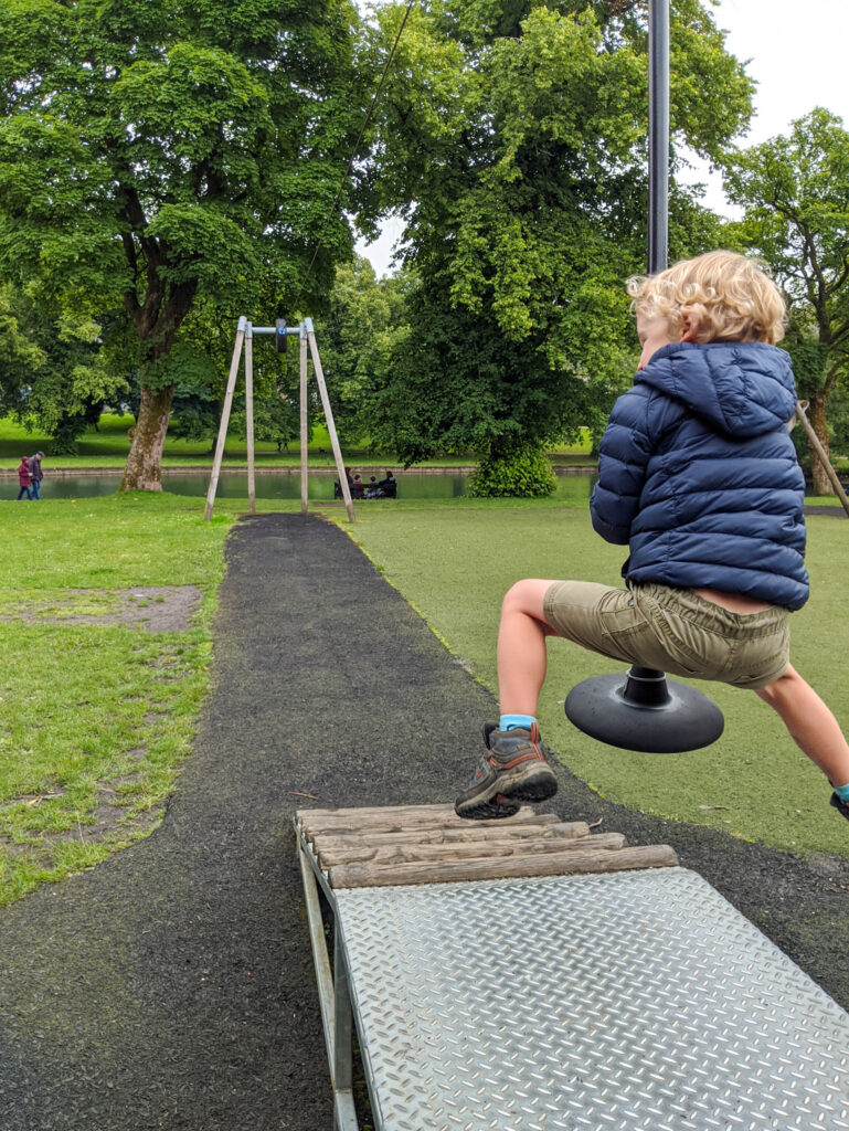 zip wire at Buxton playground