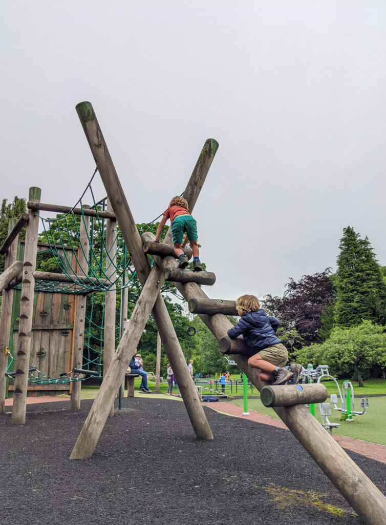 climbing frame at Buxton playground