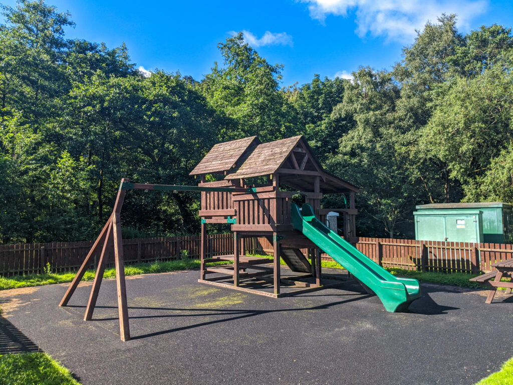 Playground at Hayfield Campsite (Camping and Caravanning Club)