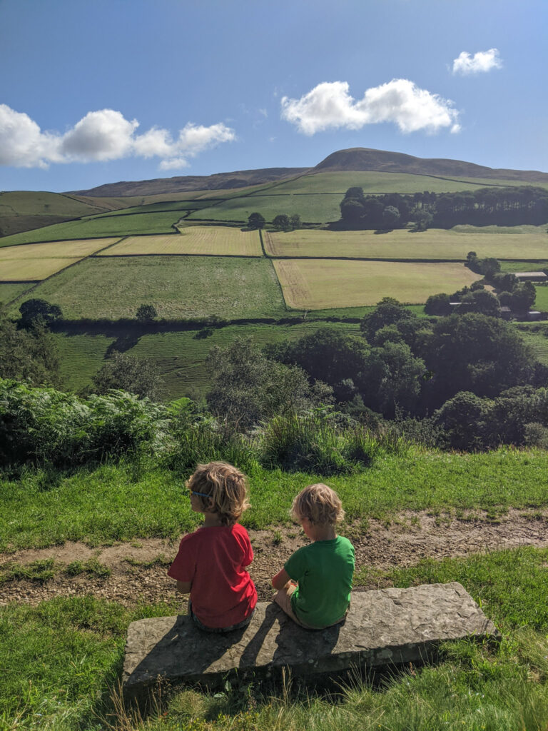 Hiking Kinder Scout with kids