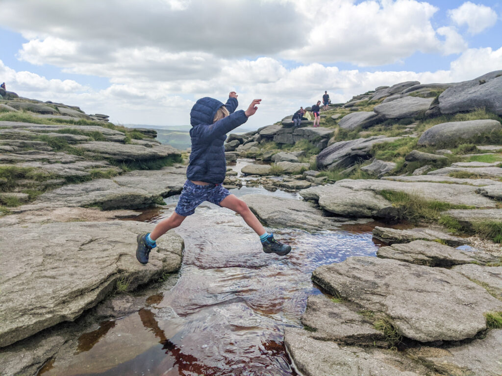 Jumping at Kinder Downfall
