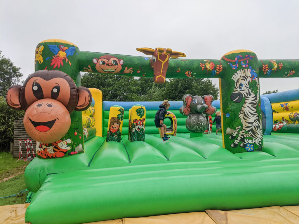 bouncy castle at Peak Wildlife Park