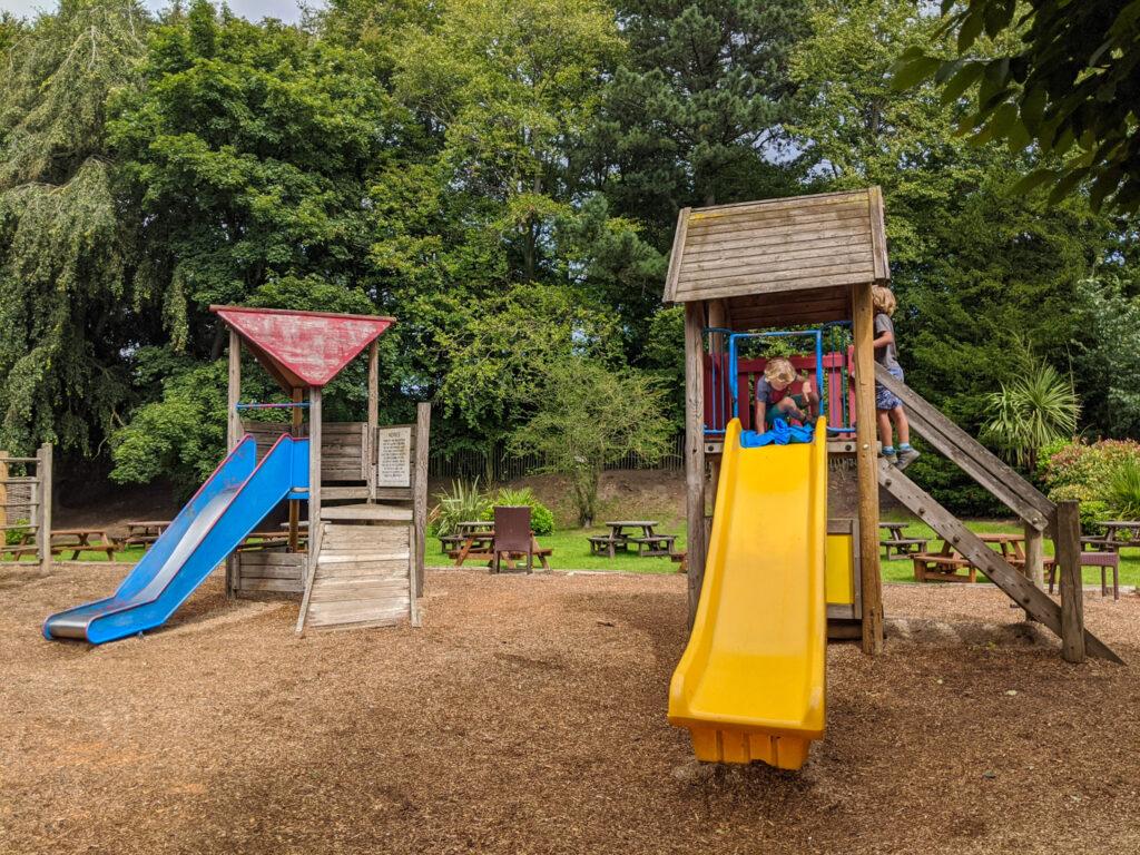 playground at The Wheatsheaf in Baslow