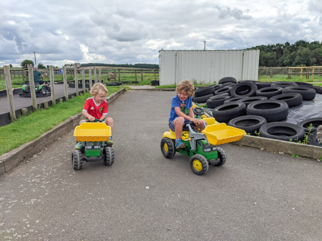 pedal tractors at Matlock Farm Park