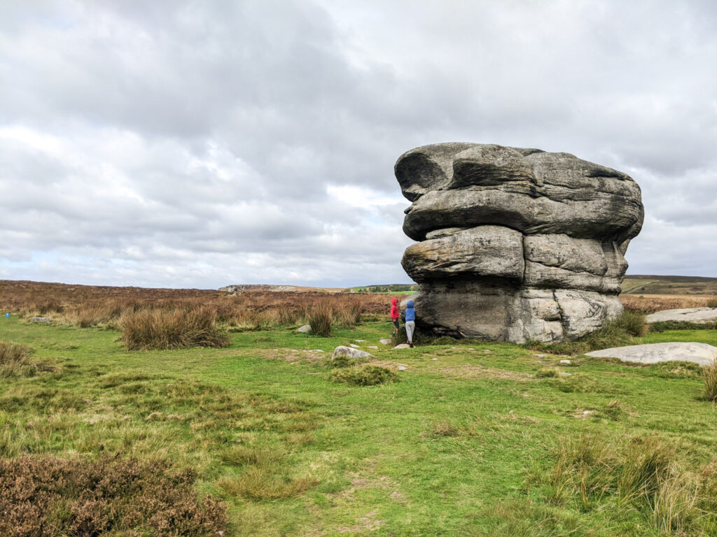 Baslow Edge walk - Eagle Stone