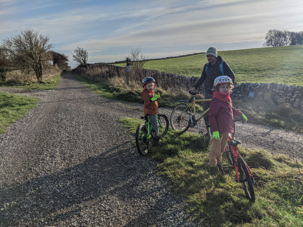 cycling between the High Peak Trail and Tissington Trail
