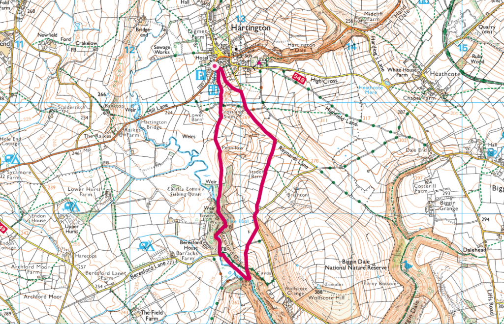 Hartington walk map