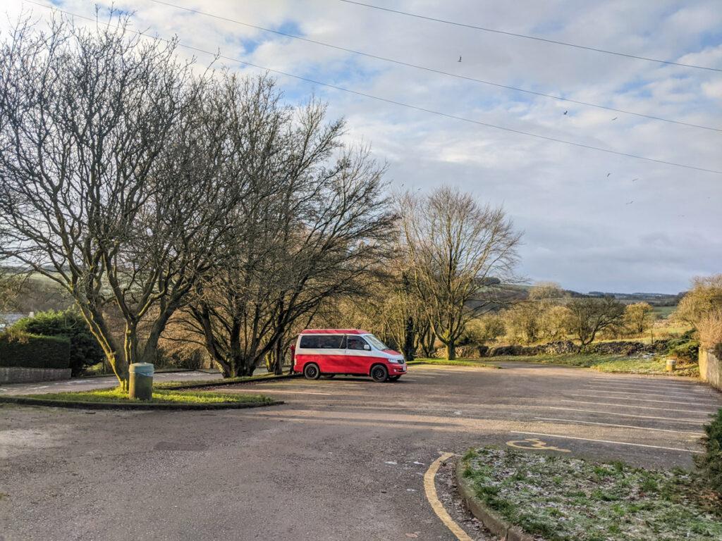 Over Haddon car park
