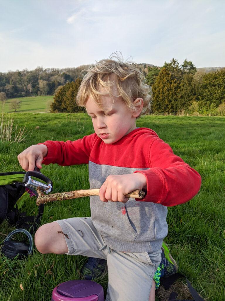 rainbow sticks - outdoor craft activity