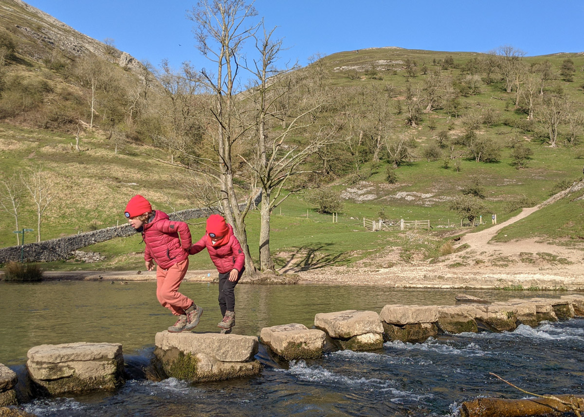 Stepping stones in the Peak District: Dove Dale, Chee Dale and Hathersage