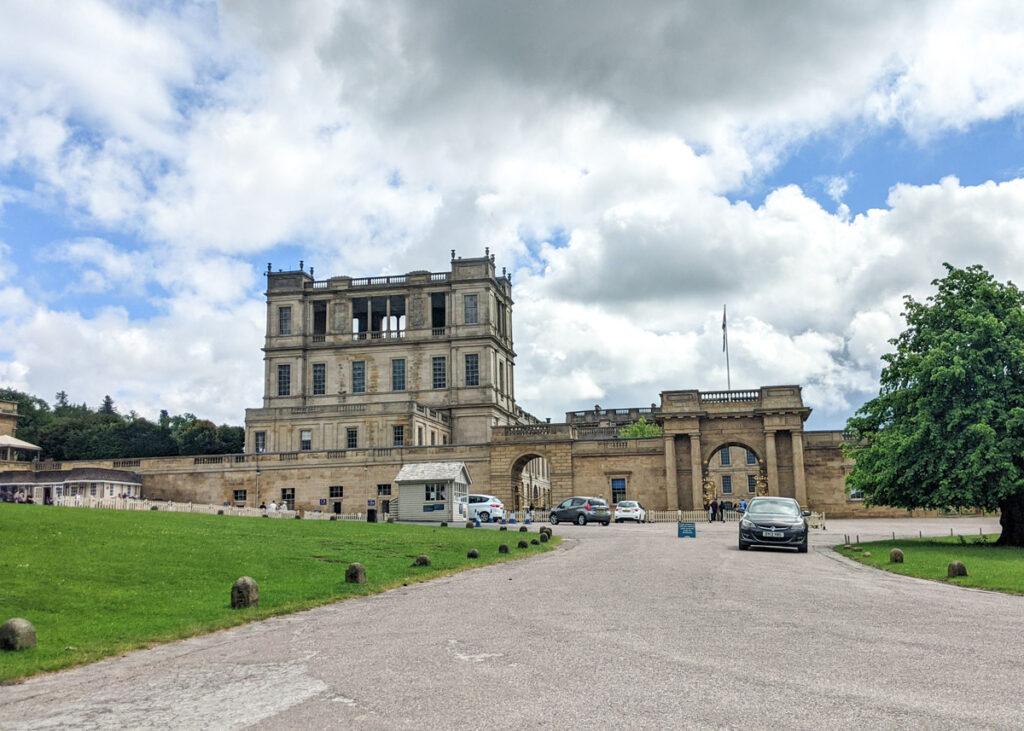 Entrance to main Chatsworth car park