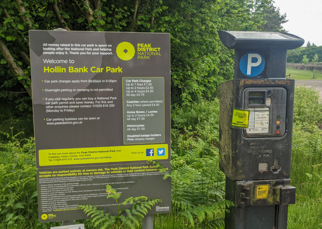 Hollins Bank car park machine