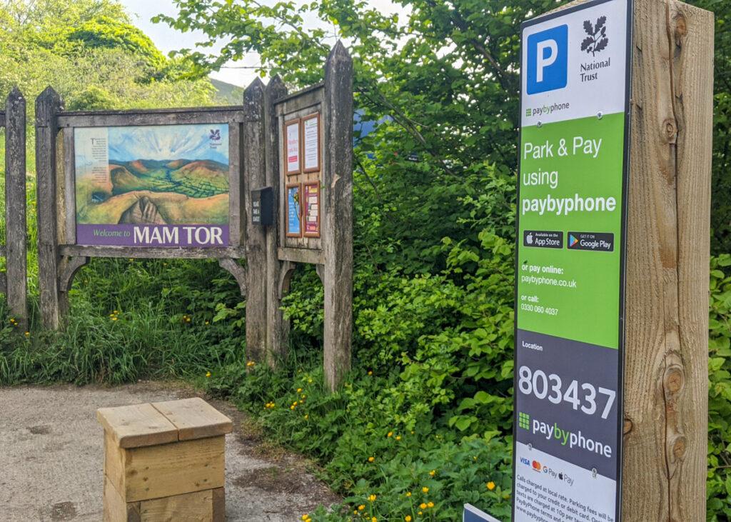 Mam Tor National Trust car park