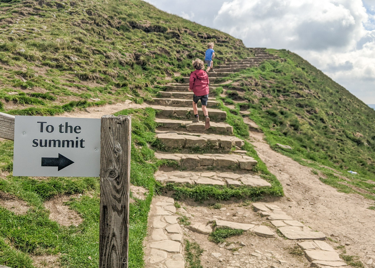 How to get to Mam Tor trig point: the quick and easy way