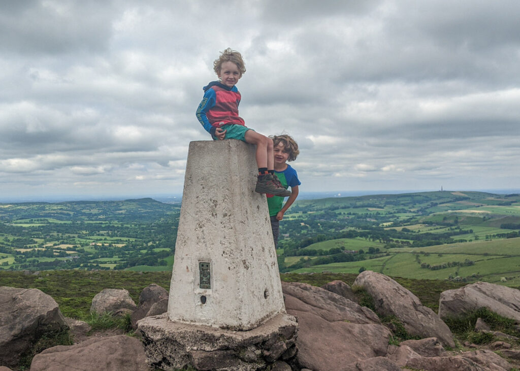 The Roaches trig point