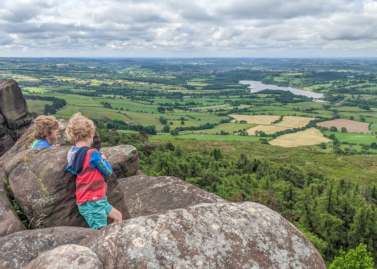 The Roaches walk (circular, 5.5km): inc. trig point and Doxey Pool