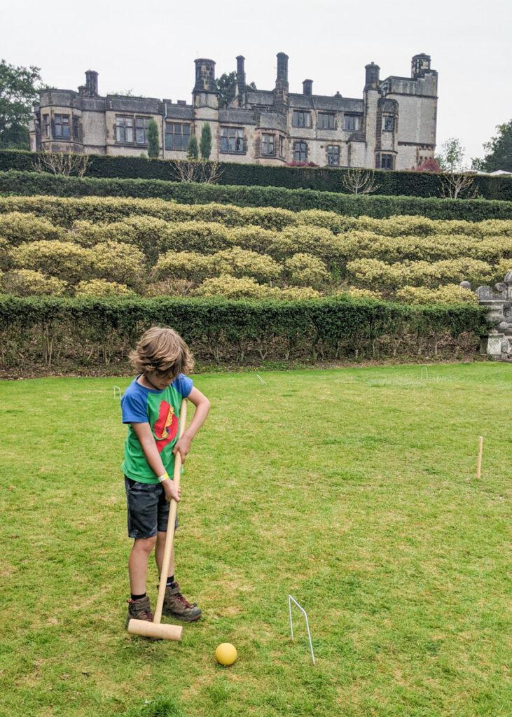Playing at Thornbridge Gardens