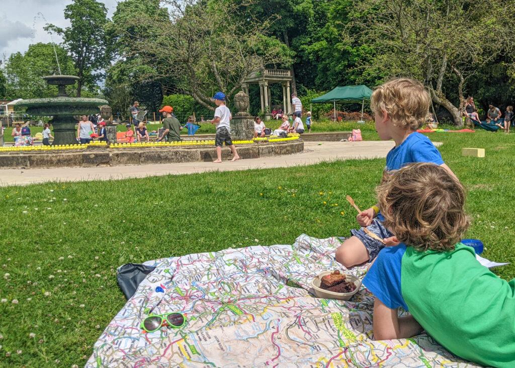Picnic blanket at Thornbridge Gardens
