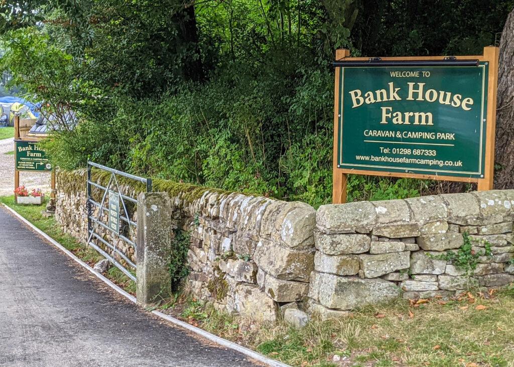 Bank House Farm Campsite entrance