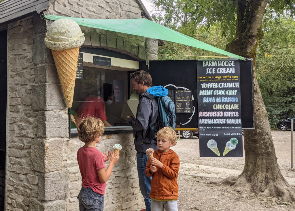 Ice-cream hut at Dovedale