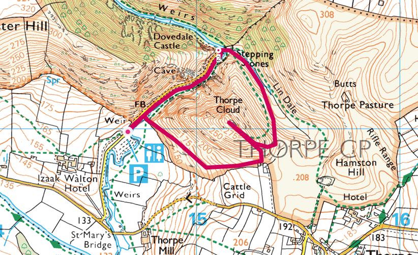 Thorpe Cloud OS map