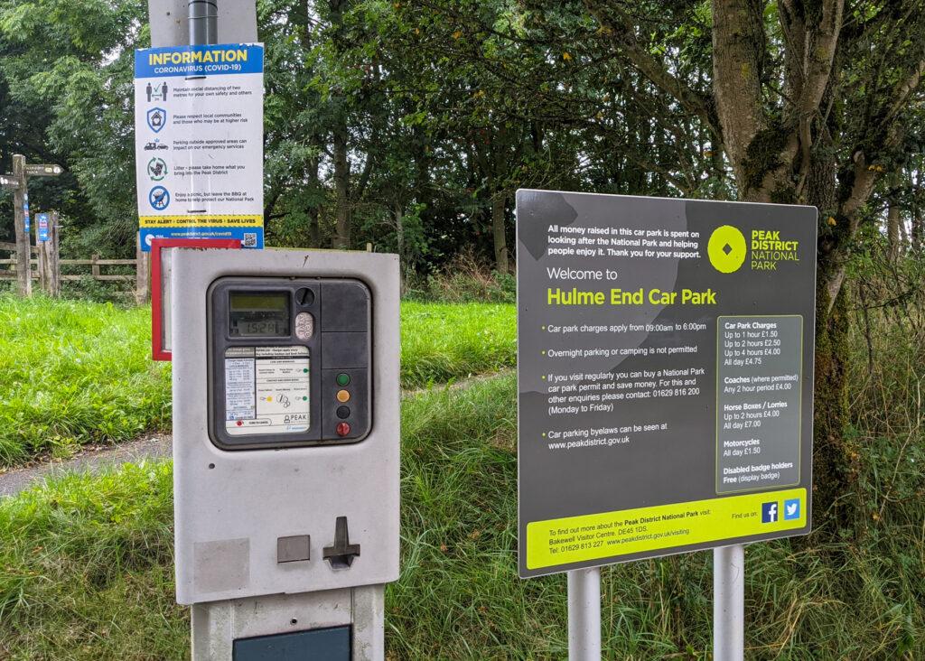 Hulme End parking metre