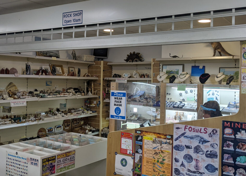rock shop at National Stone Centre