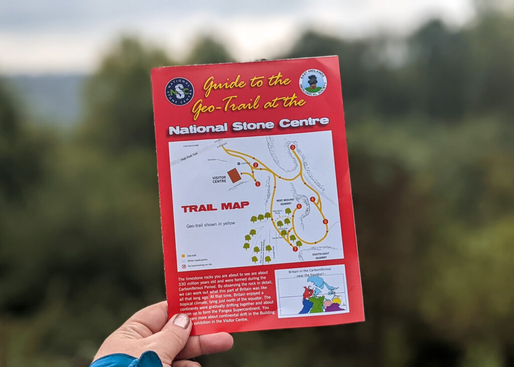 National Stone Centre geo-trail map